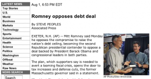 AP shows Huntsman photo in column about Romney